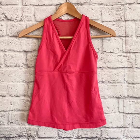 Lululemon Deep V Dark Pink Tank Top